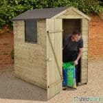 6x4 Pressure Treated Overlap Wooden Shed With Window