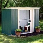 Arrow Greenvale Flat Roof Metal Shed