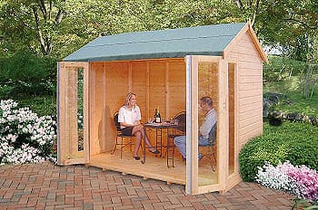 Shire Blenheim Shiplap Wooden Summerhouse With Bi Fold