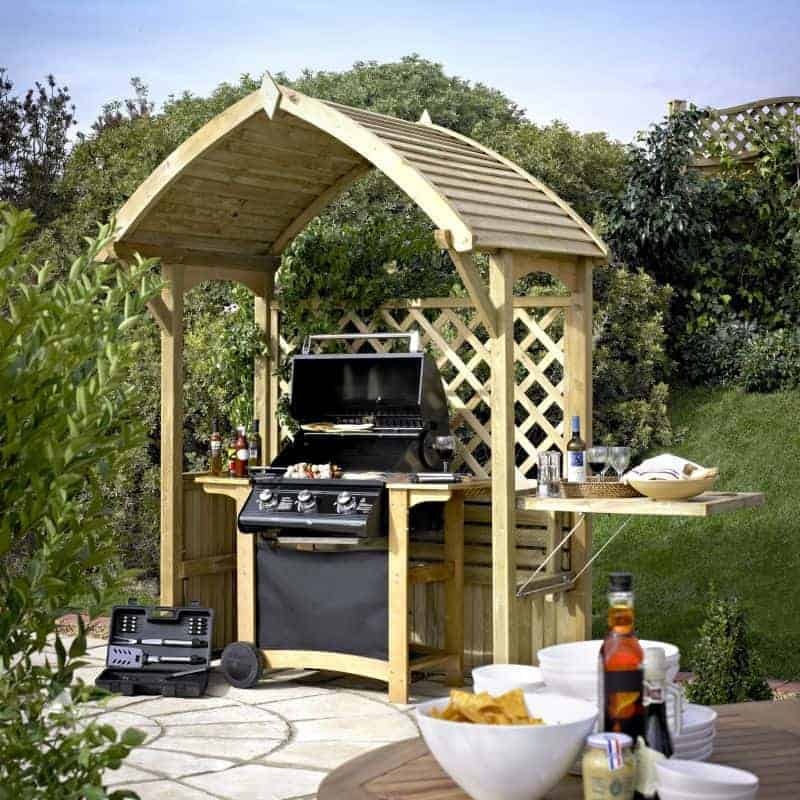 Blooma Barmouth Wooden Bbq Arbour 2 16 X 1 77 X 1 2