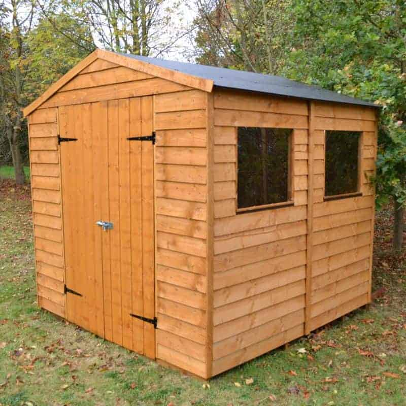 Blooma Overlap Wooden Shed With Plastic Roof 7 X 7 What Shed