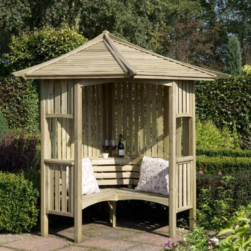 B Q Blooma Solway Wooden Corner Arbour What Shed