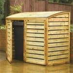 Double Wooden Bin Store