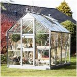 Eden Greenhouses Acorn with Horticultural Glass Greenhouse