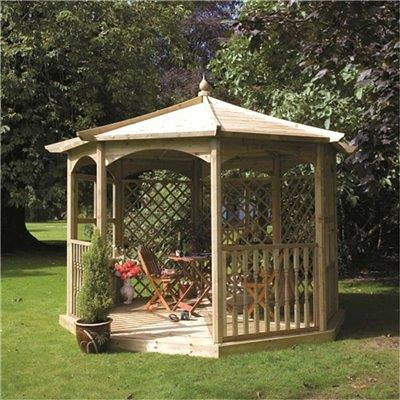 This 8 Sided Gazebo Makes A Stunning Addition To The Outdoors Constructed From Pressure Treated Wood Not Only Does It Look Incredible Is Also Low