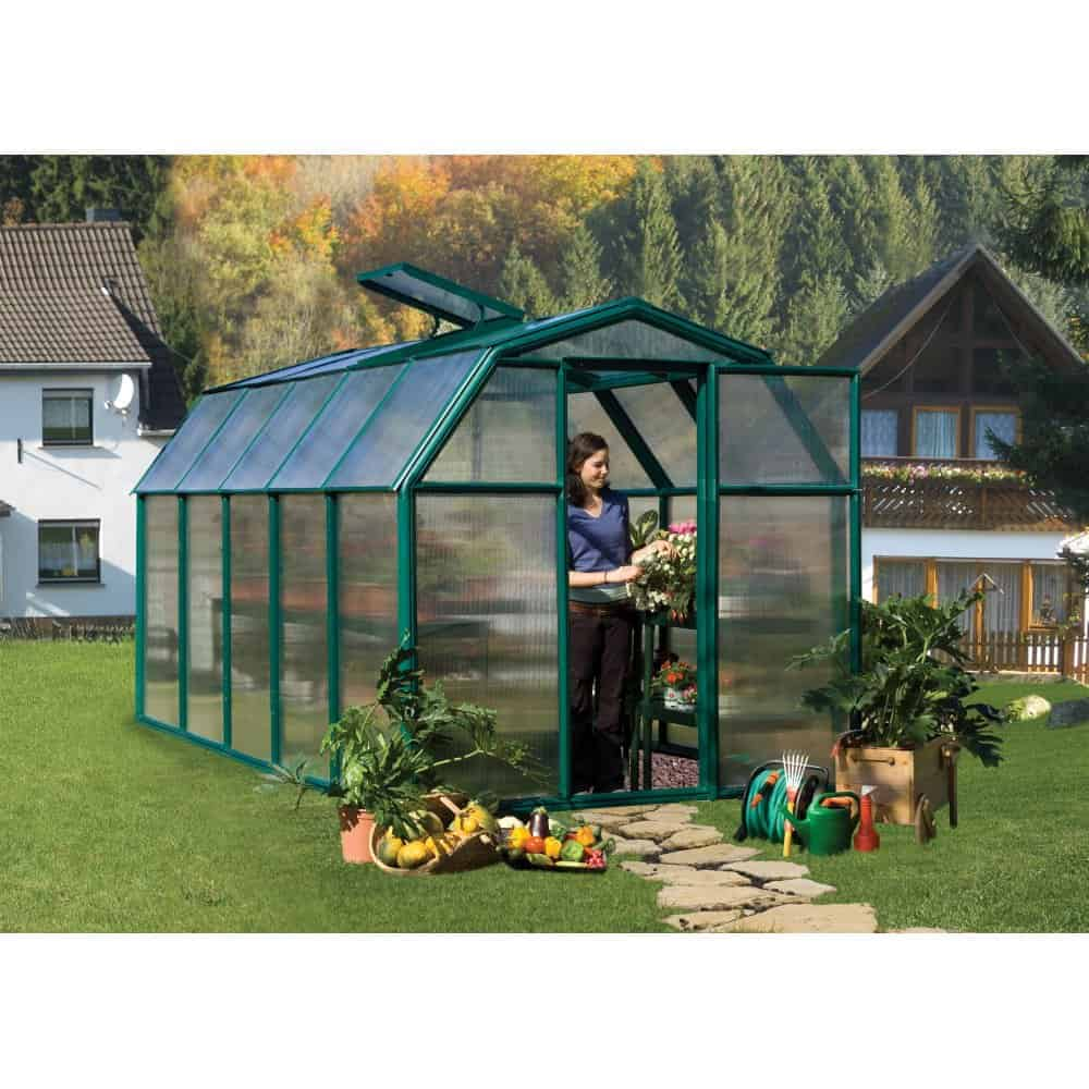 Green Resin Frame Eco Greenhouse