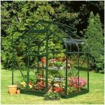 Halls Greenhouse Green Aluminium Supreme Greenhouse