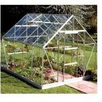 Halls Greenhouse Toughened Glass Silver Greenhouse