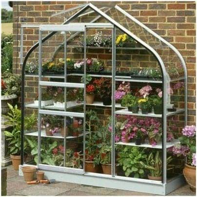 Halls Greenhouses Aluminium Supreme Greenhouse with Toughened Glass