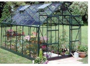 Halls Greenhouses Green Aluminium Magnum Horticultural Greenhouse