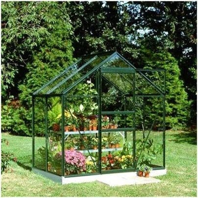 Halls Greenhouses Green Aluminium Popular Greenhouse