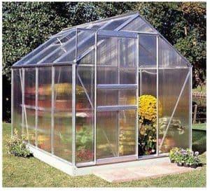 Halls Greenhouses Popular Aluminium Greenhouse with Polycarbonate Glazing
