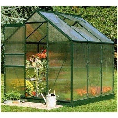 Halls Greenhouses Popular Polycarbonate Glazing Greenhouse Medium - What  Shed