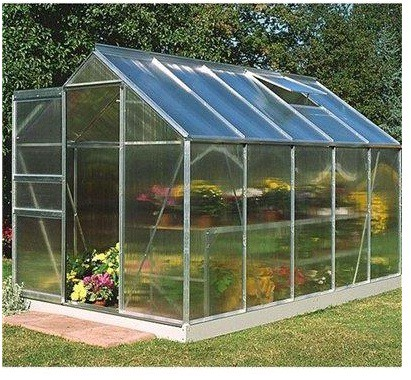 Halls Greenhouses Popular Polycarbonate Greenhouse - What Shed