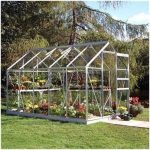 Halls Greenhouses Popular Silver Aluminium Greenhouse