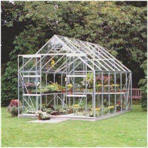 Halls Greenhouses Silver Aluminium Magnum Greenhouse