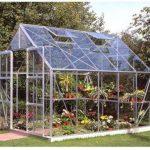 Halls Greenhouses Silver Aluminium Short Pane Magnum Greenhouse