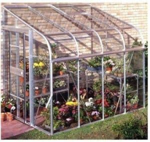 Halls Greenhouses Silverline Horticultural Glass Lean-To