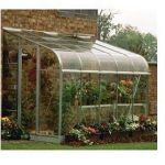 Halls Greenhouses Silverline Toughened Glass Lean-To