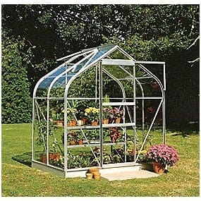 Halls Greenhouses Toughened Glass Silver Aluminium Supreme Greenhouse