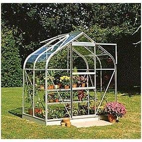 Halls Greenhouses Toughened Glass Silver Aluminium Supreme Greenhouse