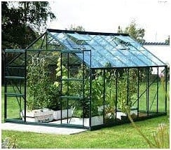 Halls Greenhouses Toughened Long Pane Glass Greenhouse