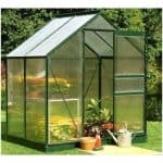 Halls Polycarbonate Glazing Green Greenhouse