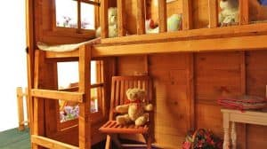 Inside view The Mad Dash Premium Peardrop Junior Playhouse with Picket Fence 6 X 5