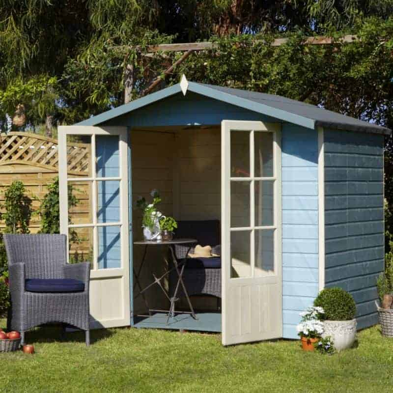 Shire Lumley Shiplap Wooden Summerhouse With Toughened