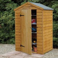 Overlap Wooden Shed Without Window 4 x 3