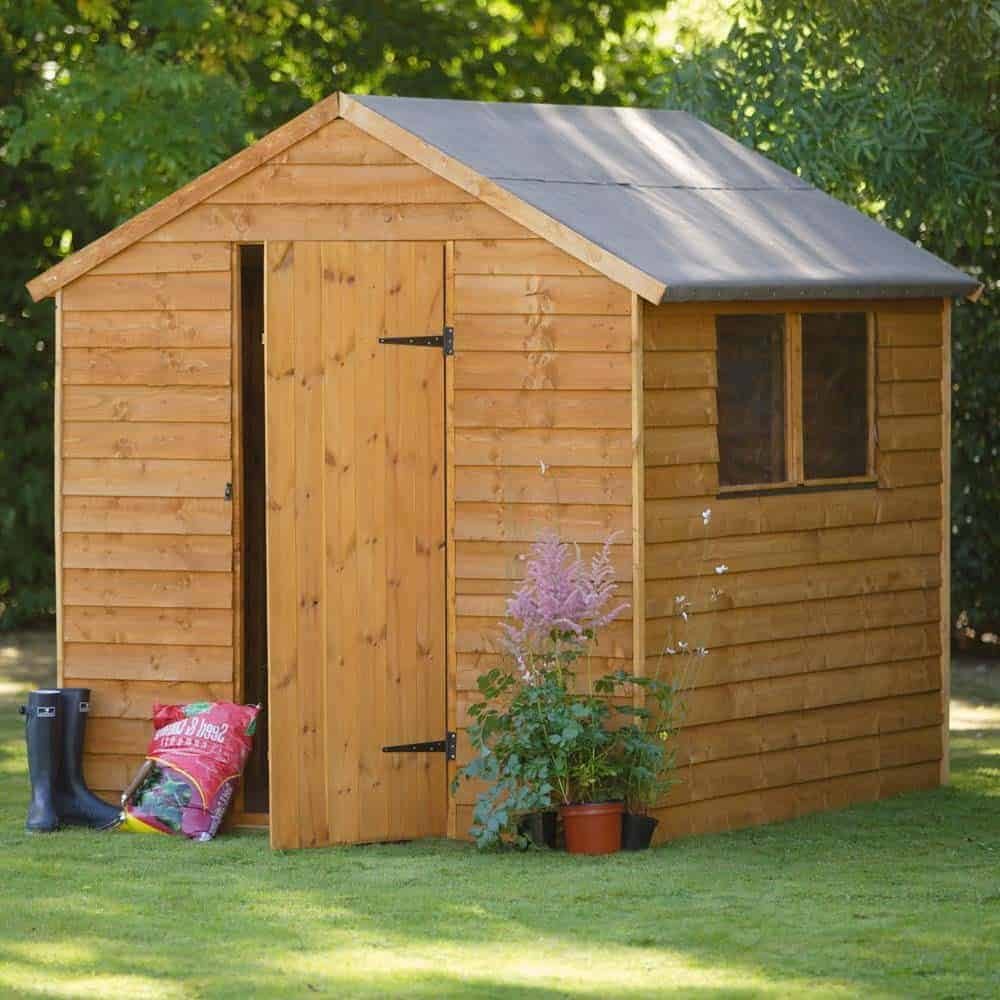 Overlap Wooden Shed With 2 Windows What Shed