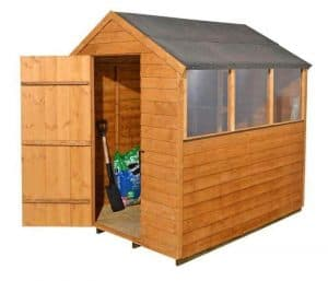 Overlap Wooden Shed with 3 Windows