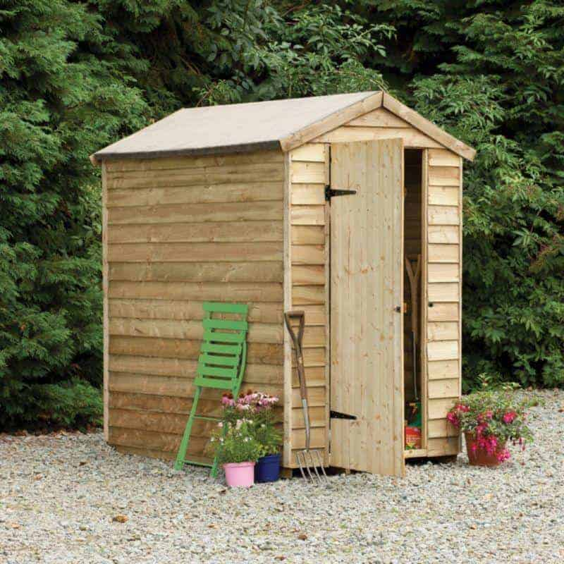 Pressure Treated Overlap Wooden Shed Without Window What