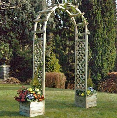 Plastic Garden Planters With Trellis Uk Garden Ideas