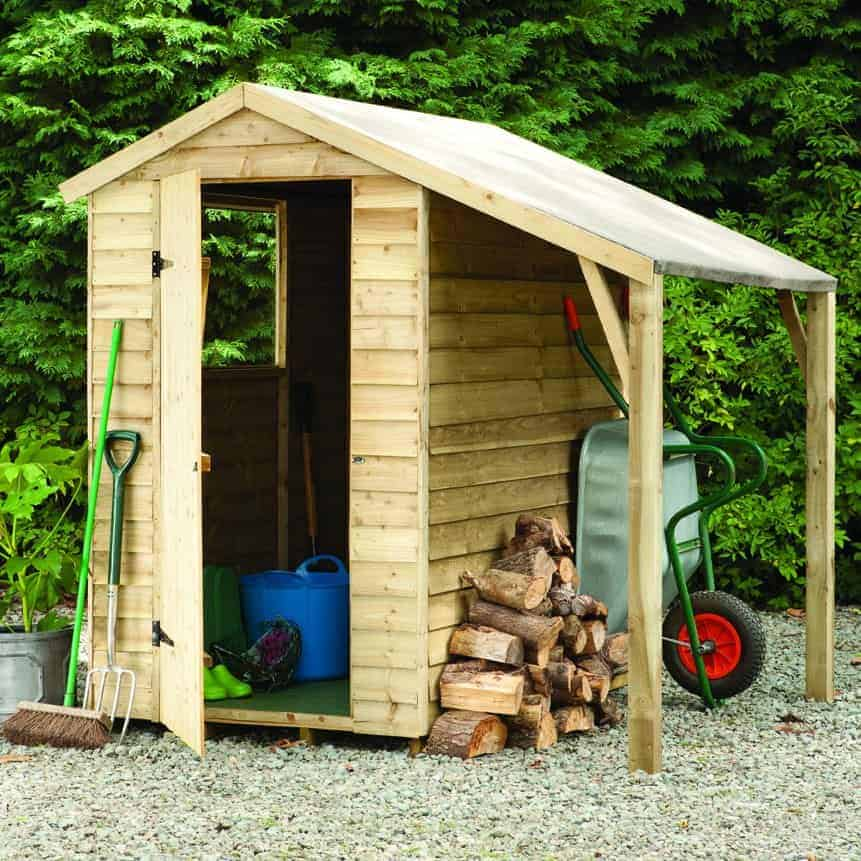Overlap wooden shed with lean to 6 x 4 what shed - Garden sheds with lean to ...