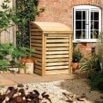 Single Wooden Bin Store