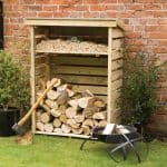 Small Wooden Log Store