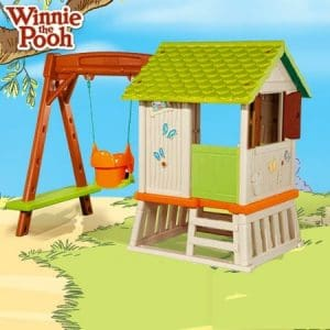 Smoby Winnie The Pooh Hut and Swing back