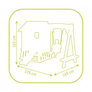 Smoby Winnie The Pooh Hut and Swing size