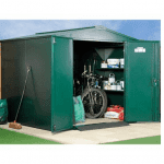 The Asgard Gladiator Metal Shed in Green