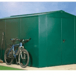 The Asgard Gladiator Plus Metal Shed in Green