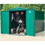 The Asgard Motorbike Metal Shed Garage Plus