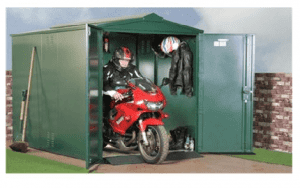 The Asgard Motorcycle Garage Storage in Green