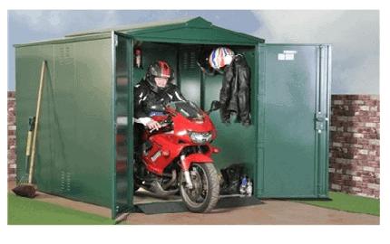 The Asgard Motorcycle Garage Storage in Green