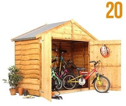 The BillyOh 20 Extra Wide Bike Store Shed