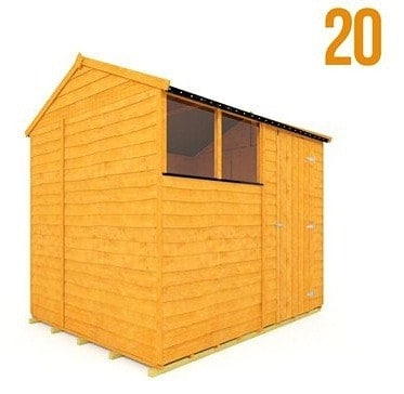 The BillyOh 20 Rustic Overlap Garden Shed