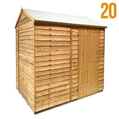 The BillyOh 20 Windowless Rustic Overlap Garden Shed