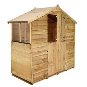 The BillyOh 200 Pressure Treated Overlap Apex Shed