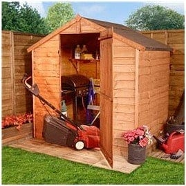 The BillyOh 20S Windowless Rustic Overlap Apex Shed