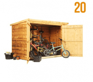 The BillyOh 300 Pent Tongue & Groove Bike Storage or Mini Shed